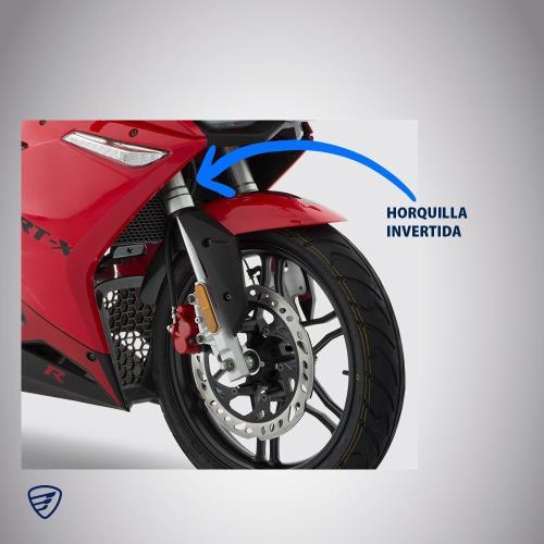 suspensión horquilla invertida motocicleta moto
