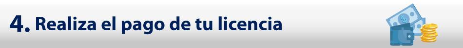 4. Realiza el pago de tu licencia