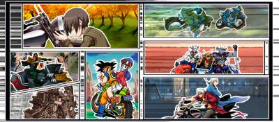 Motocicletas de caricatura