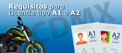 Requisitos para licencia A1 y A2 para moto en CDMX