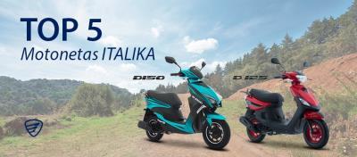 Top 5 de Motonetas que en ITALIKA tenemos para ti