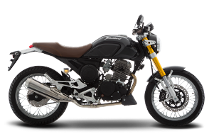 Moto Cafe Racer Italika modelo BLACKBIRD